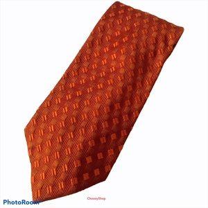 ZEGNA Burnt Orange Tone on Tone Silk Luxury Tie